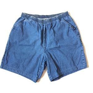 Vintage CHIC high waisted jean shorts elastic 18